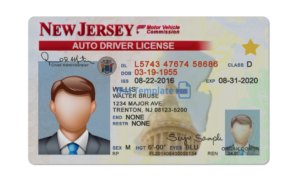 New jersey driver license template.New jersey Driving License psd template.