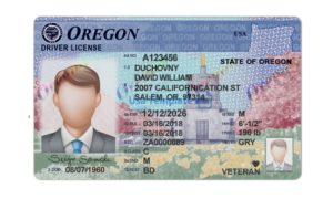 Oregon Driver Licence psd Template. Oregon Driving License psd template